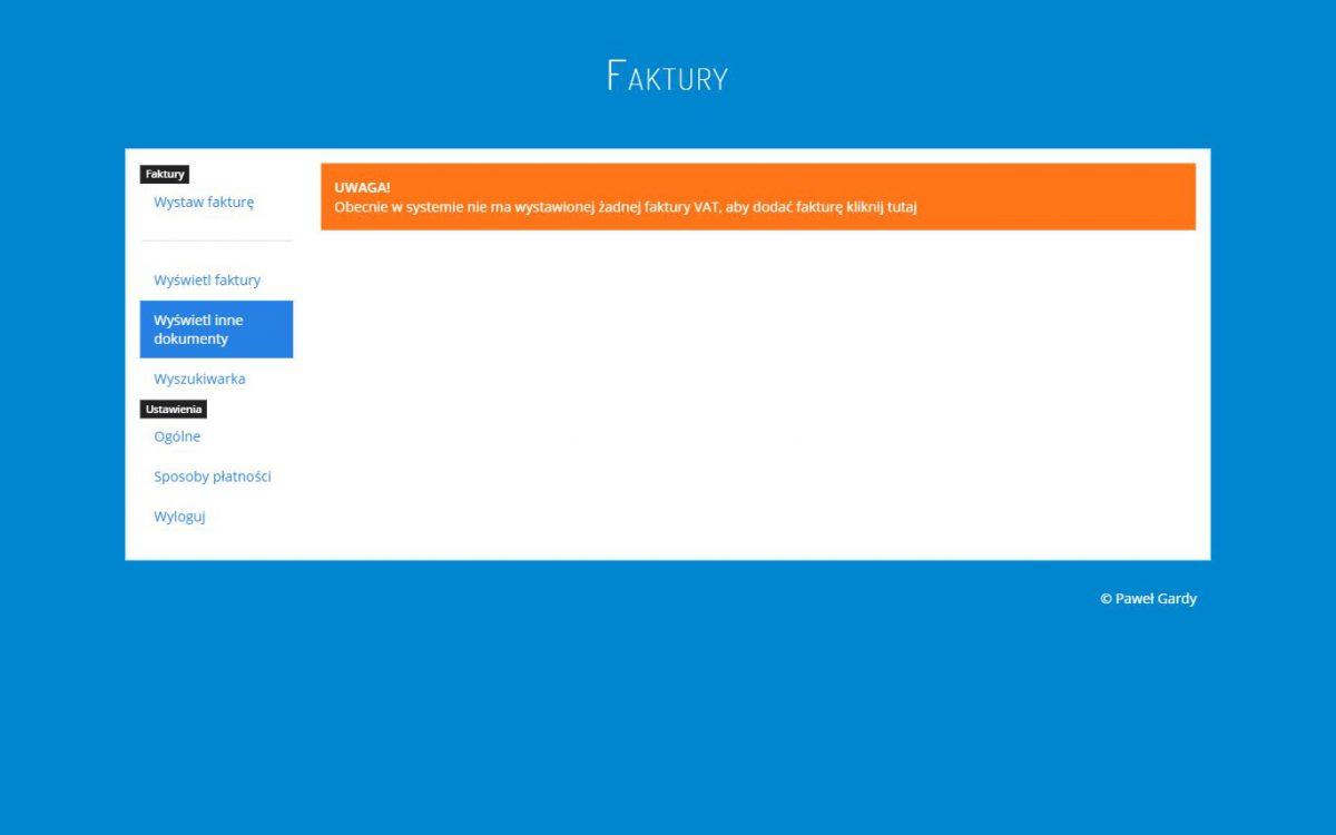 Grafika realizacji - Program do faktur