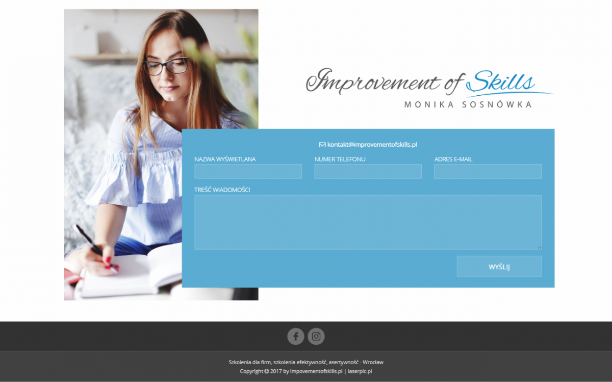 Grafika realizacji - Improvement of Skills