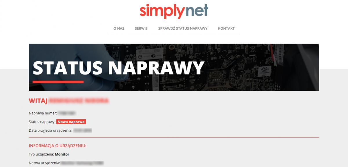 Grafika realizacji - Simplynet