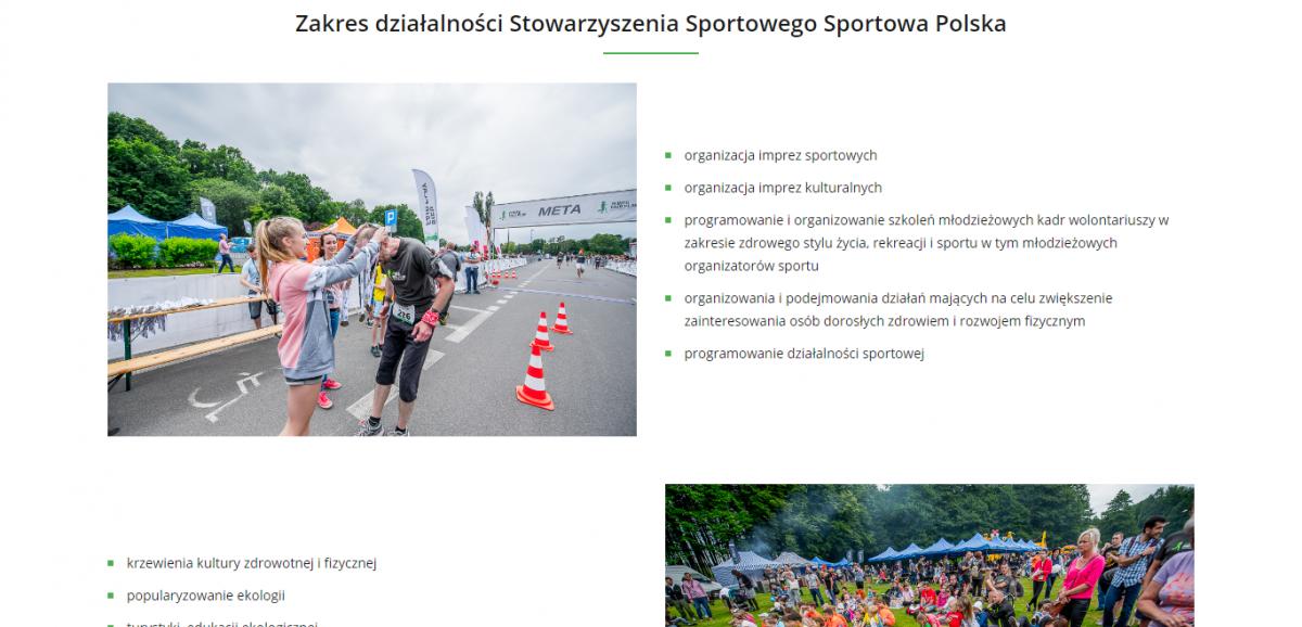 Grafika realizacji - Stowarzyszenie Sportowa Polska