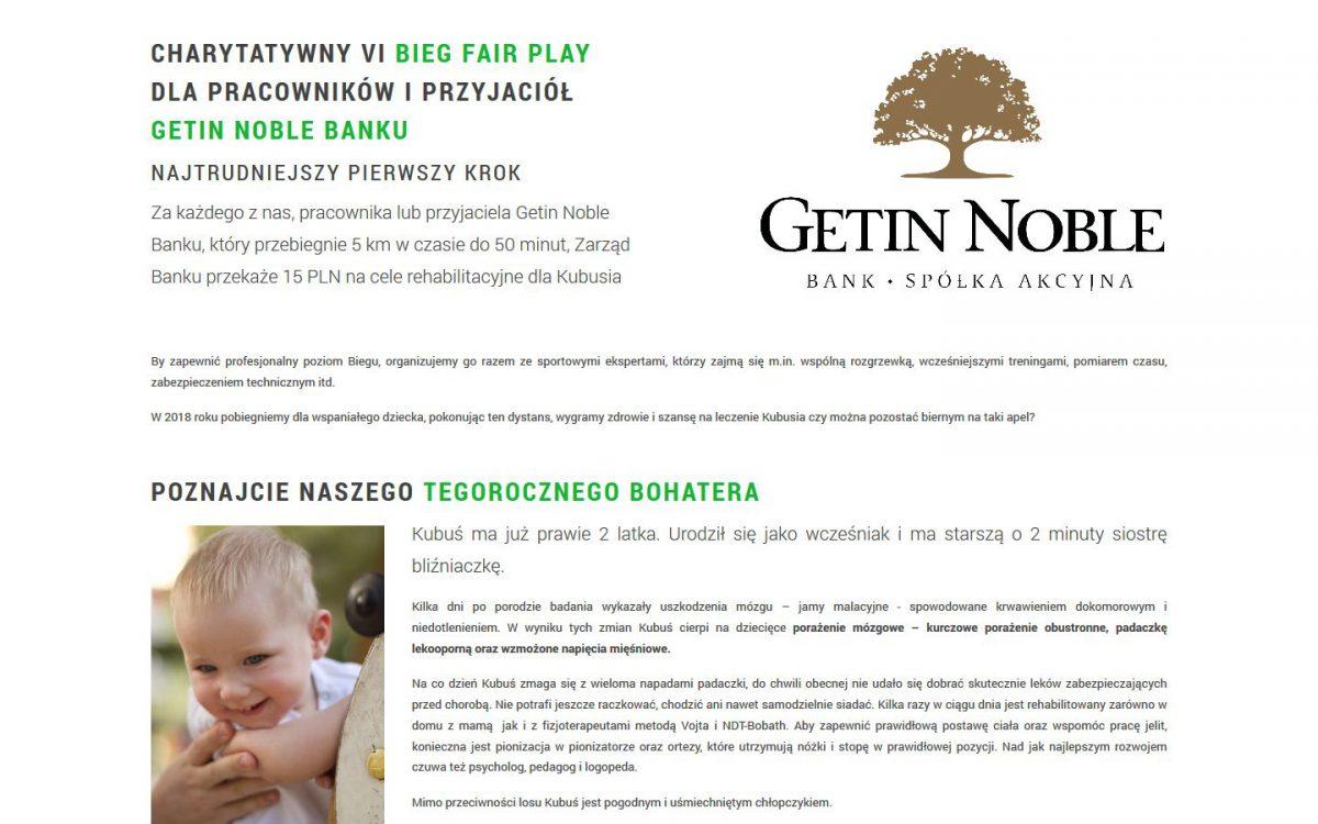 Grafika realizacji - Bieg Fair Play